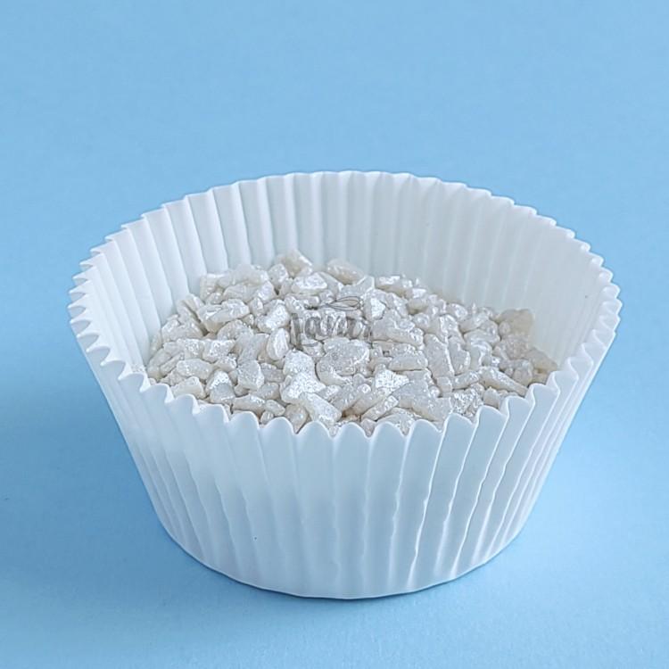 Марципановый кранч - серебро Callebaut 50 гр (развес)