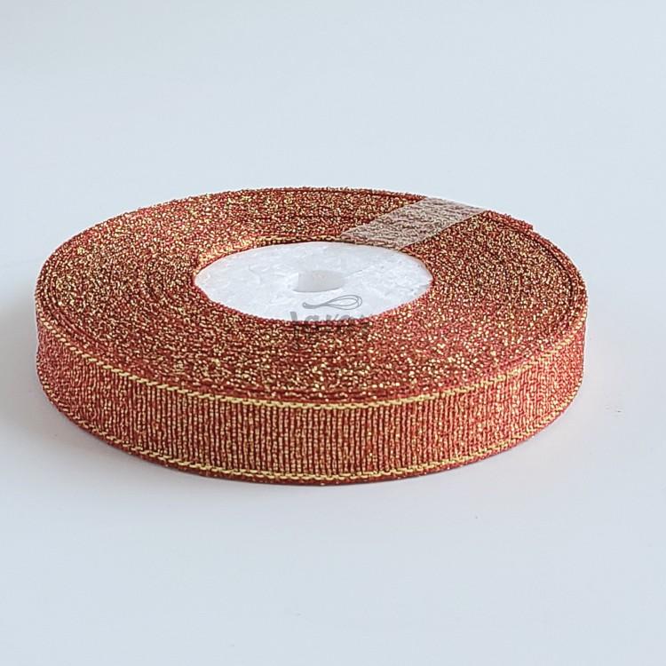 Парчовая лента оранжевая 1.2 см - рулон
