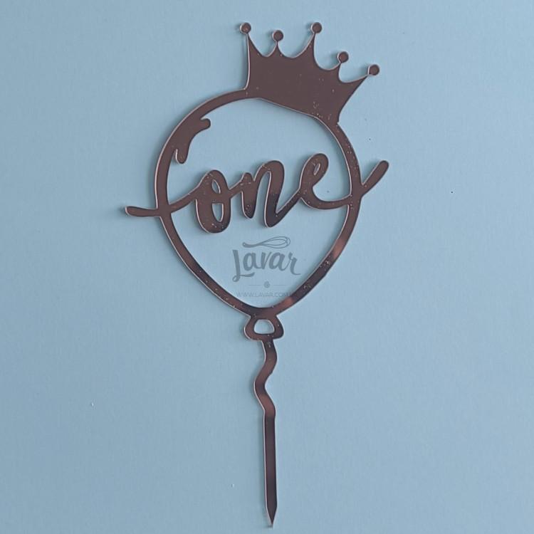 Топпер One корона принцессы - розовый 10.5х20 см