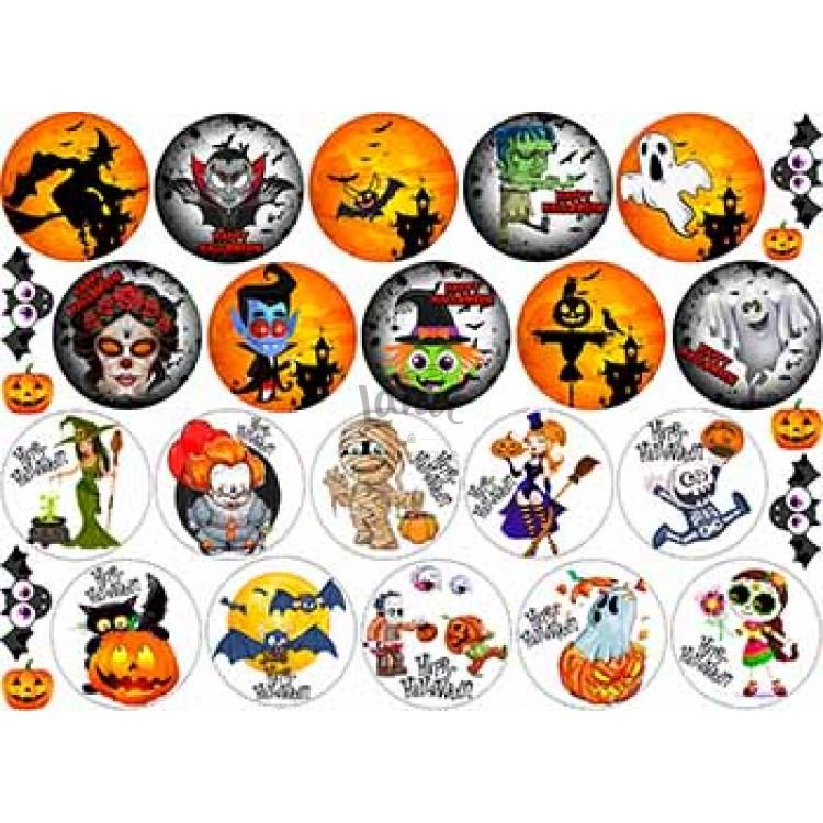 "Вафельная картинка ""Хэллоуин. Хеловин. Хеллоуин-1"" (А4)"