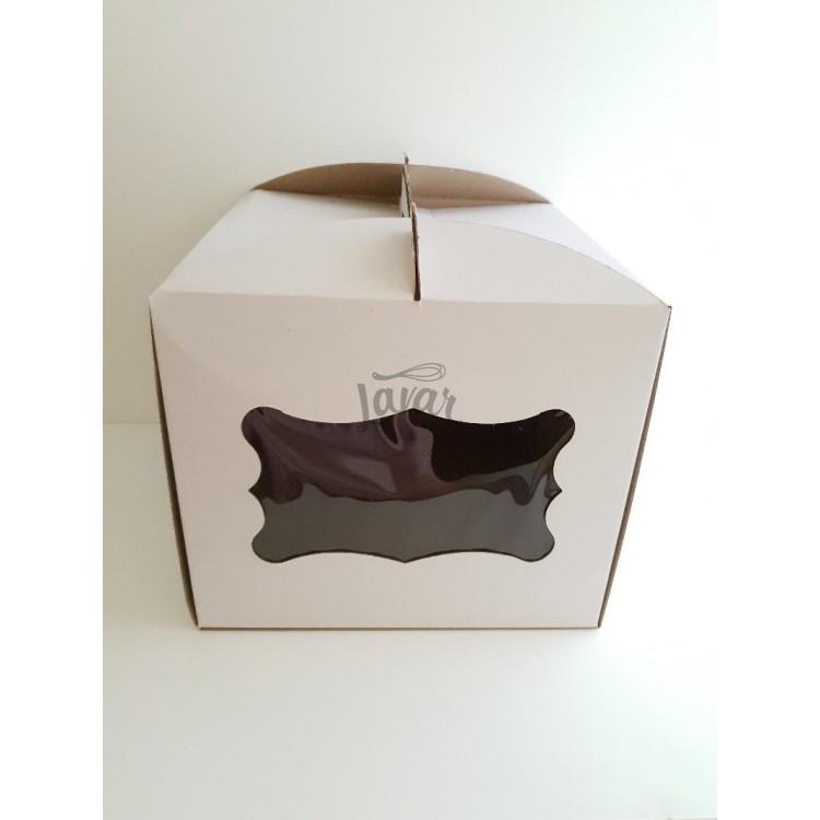 Коробка для торта с боковым окошком 30х30х30 см