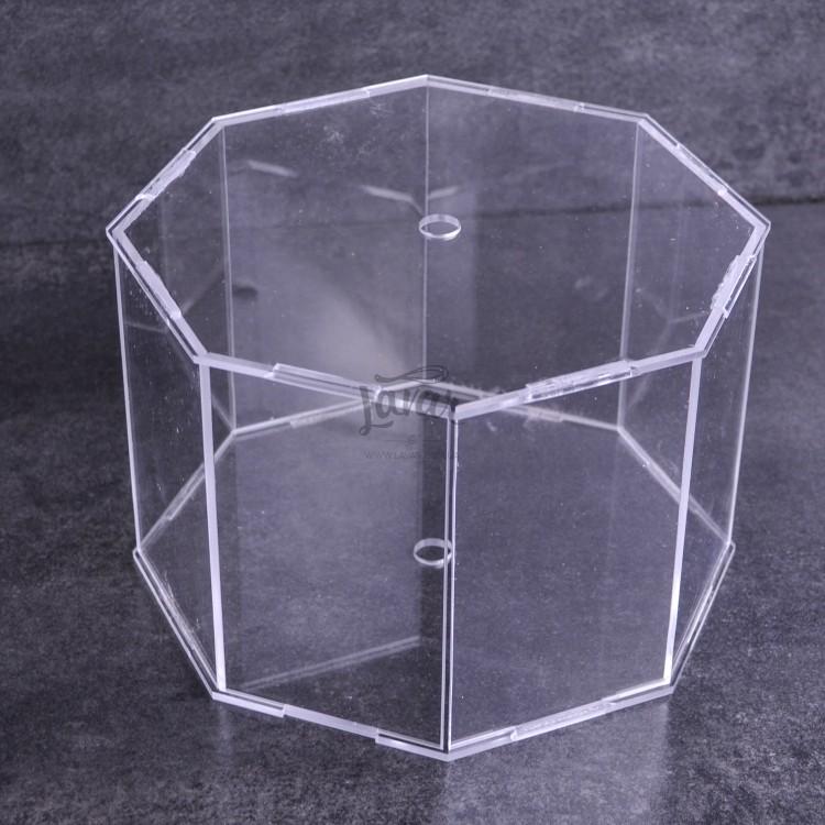 Акриловый ярус (бокс) для торта восьмиугольник 25х25х12 см