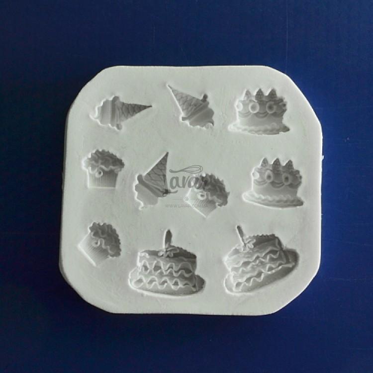 Силиконовый молд Набор тортиков 7.9х7.6 см