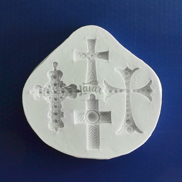 Силиконовый молд Набор крестиков 9.0х8.8 см