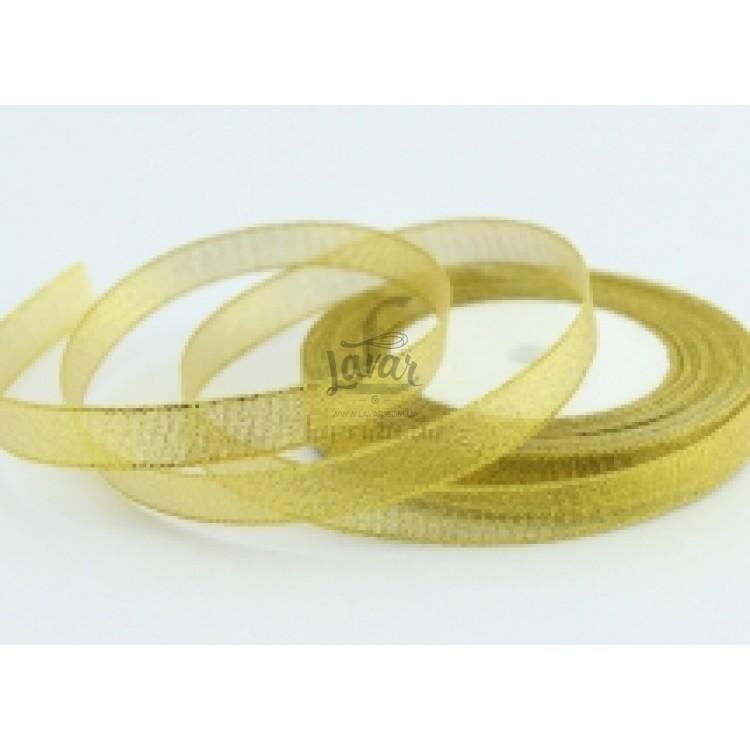 Парчовая лента золотая 1.2 см - рулон