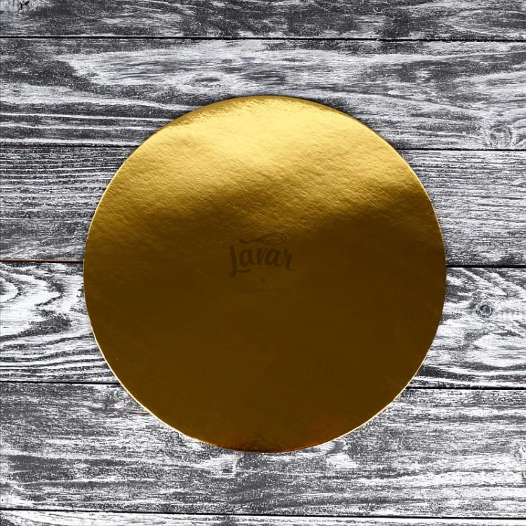 Подложка под торт круглая, двусторонняя 18 см
