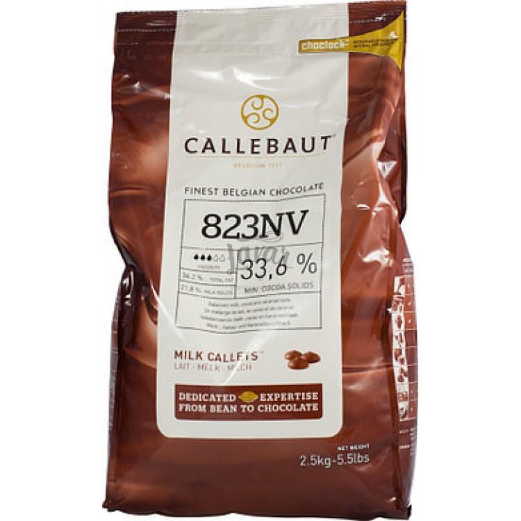 Шоколад молочный 33.6% Callebaut 200 гр (развес)