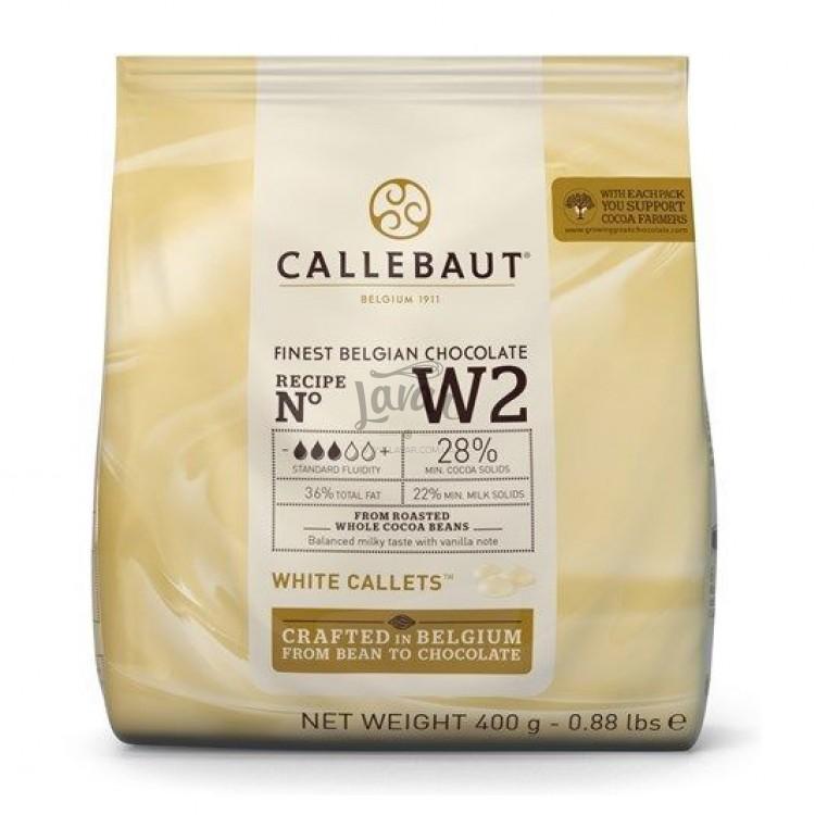 Шоколад белый 28% Callebaut 400 гр