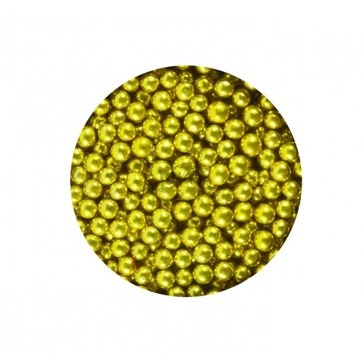 Драже сахарное золотой жемчуг 5 мм 50 гр