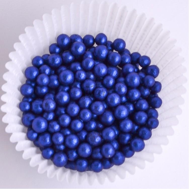 Цукрове Драже перламутрове синє 5 мм 50 гр Украса