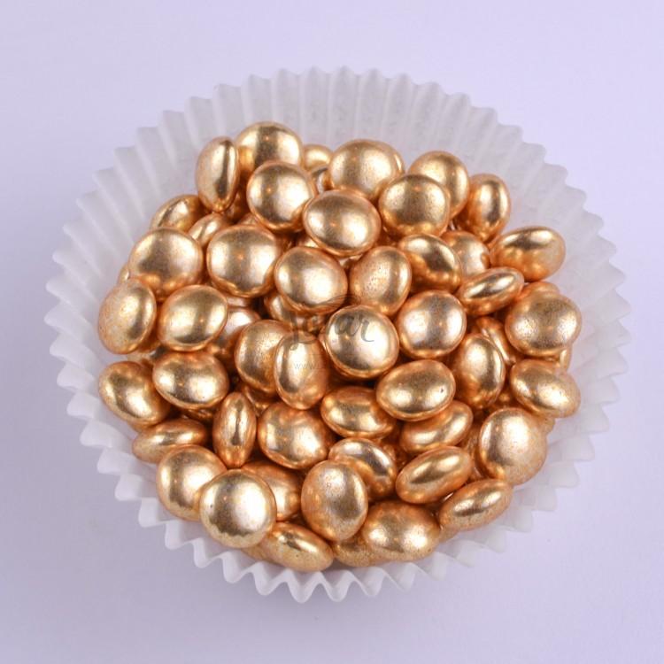Драже шоколадное круглое золотое 50 гр