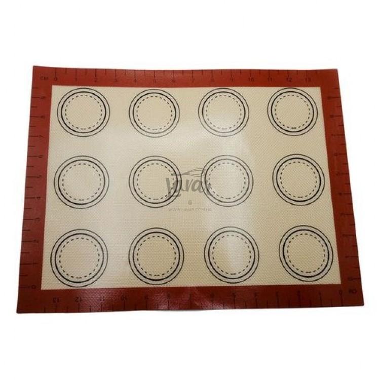 Силиконовый коврик с разметкой для макарун, 30*40 см