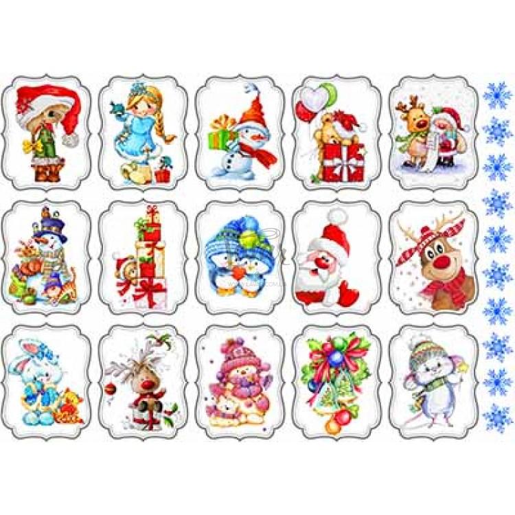 """Вафельная картинка """"Новый год. Рождество-9"""" (А4)"""
