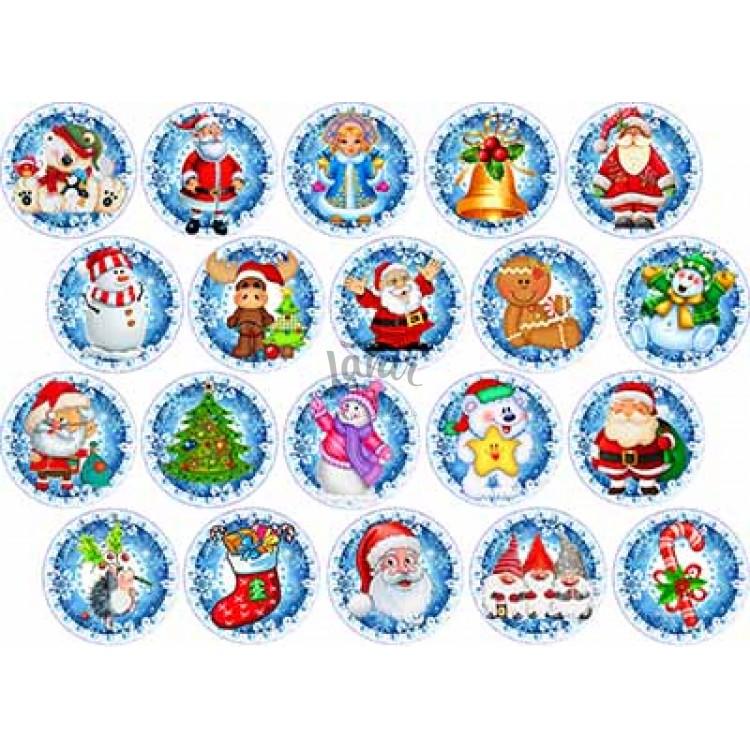 """Вафельная картинка """"Новый год. Рождество-10"""" (А4)"""